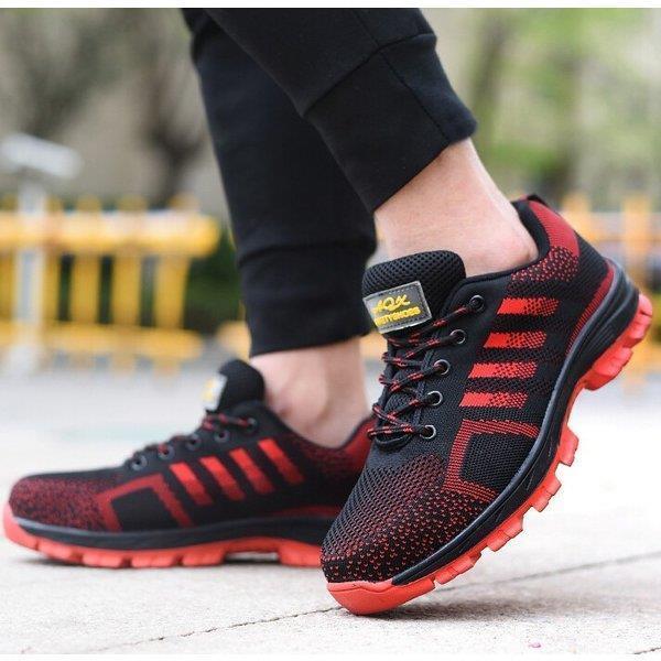 スニーカー メンズ  安全靴 作業靴 通気性抜群 おしゃれ  つま先保護 鋼先芯 軽量 通気性 耐摩耗 クッション性 男女兼用 つま先保護