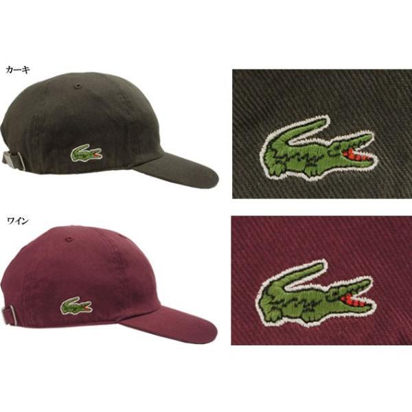 030b2bf0cebca3 ... 帽子 CAP 野球帽 ラコステ LACOSTE 6方 キャップ L3936 黒 オフホワイト 赤 紺 カーキ