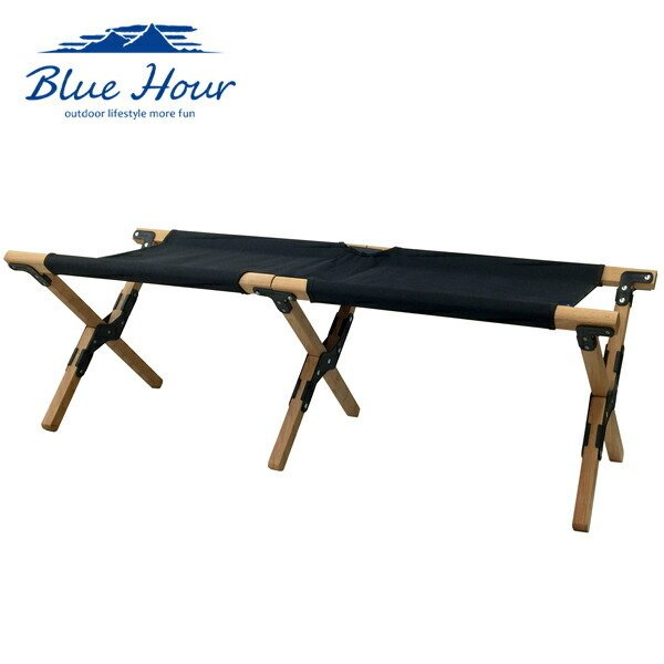 Blue Hour ウッドベンチ ブラック K-10346BK アウトドア 天然木 キャンプ レジャー 4582451300329 信頼 品質