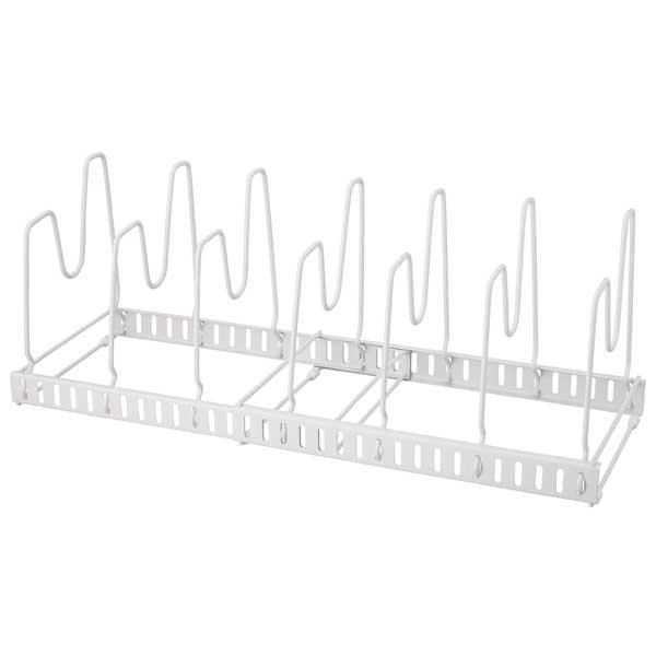 天馬 FV伸縮式フライパン&鍋ブタスタンド ホワイト 4904746107558 キッチン収納 フライパン置き 鍋置き 伸縮式