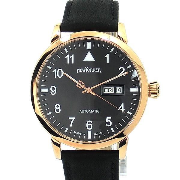 ニューヨーカー NEWYORKER 腕時計 自動巻き DD-BEATS  NY002.13 メンズ  PG/BK レザー 【アウトレット】決算SSP|pre-ma