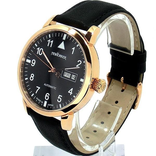 ニューヨーカー NEWYORKER 腕時計 自動巻き DD-BEATS  NY002.13 メンズ  PG/BK レザー 【アウトレット訳あり】|pre-ma|02