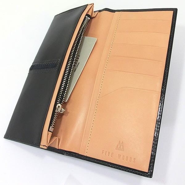 ファイブウッズ FIVE WOODS 長財布 二つ折り TED'S 38024 ブラック メンズ 決算セール|pre-ma|03