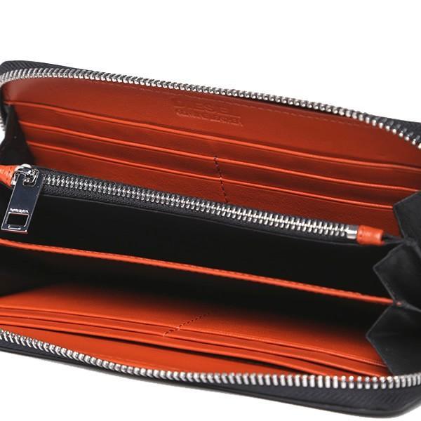 ディーゼル ラウンドジップ 長財布 DIESEL X04458 PR227 H6586 ブラック/オレンジ PEPPER 新品|pre-ma|03
