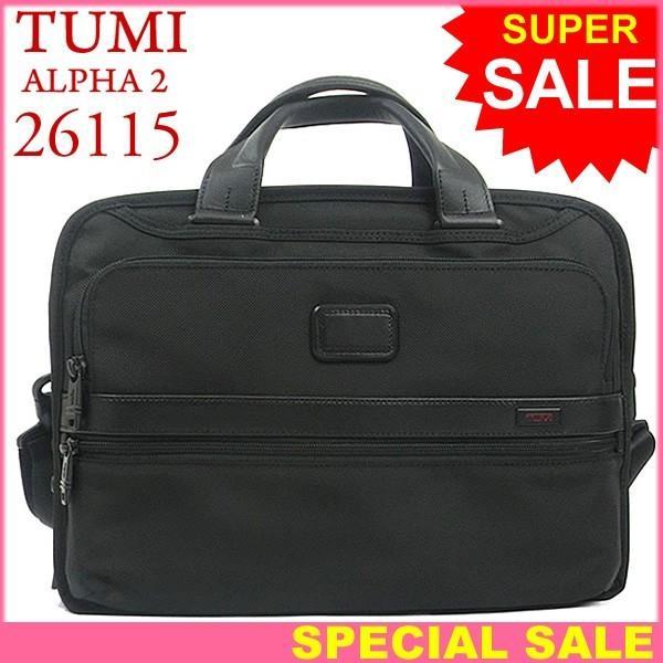 TUMI トゥミ  ビジネスバッグ/ブリーフケース ALPHA2 26115 D2  ブラック トリプル・コンパートメント・ブリーフ A4サイズ pre-ma