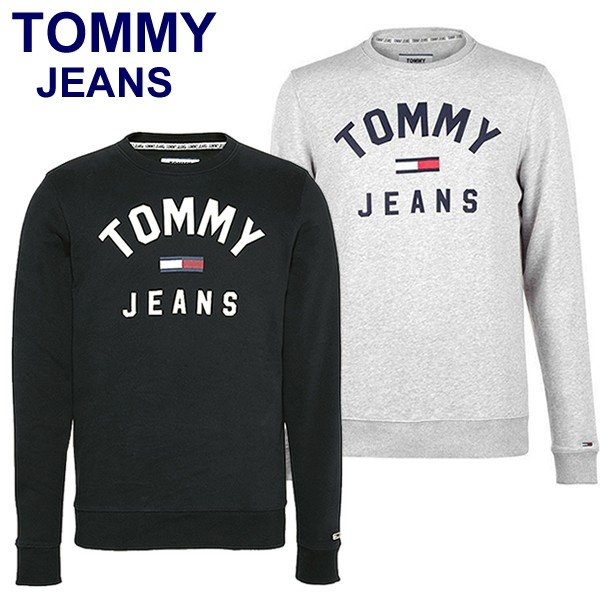 TOMMY JEANS トミー ジーンズ  メンズ スウェット トレーナー ESSENTIAL FLAG CREW  DM0DM07024 TOMMY HILFIGER pre-ma