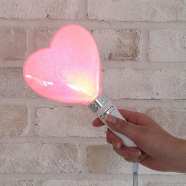 ペンライト ハート型 LED コンサート 24色 カラーチェンジ  単4型電池式 MIX PENLa (ミックス ペンラ) HB Deco 5LED ハート キラキラ ターンオン|pre-mart|03