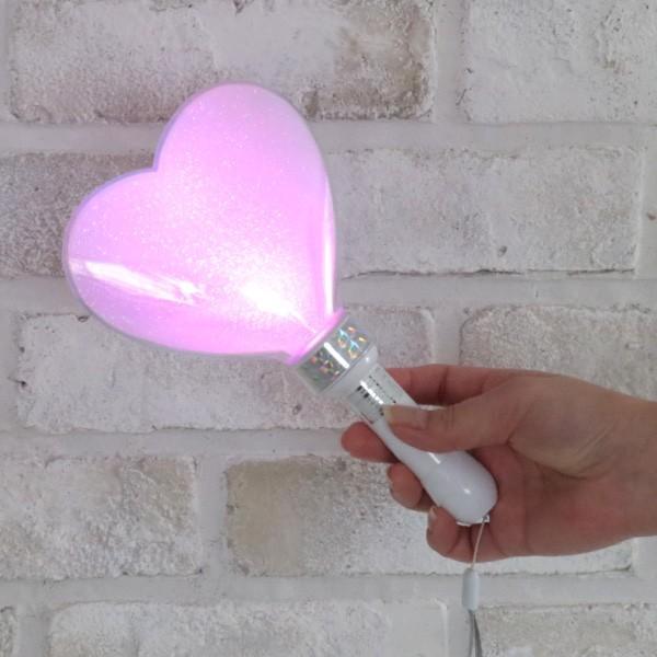 ペンライト ハート型 LED コンサート 24色 カラーチェンジ  ボタン電池式 MIX PENLa (ミックス ペンラ) PRO デコリング&デコキャップ ターンオン|pre-mart|03