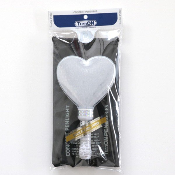 ペンライト ハート型 LED コンサート 24色 カラーチェンジ  ボタン電池式 MIX PENLa (ミックス ペンラ) PRO デコリング&デコキャップ ターンオン|pre-mart|09