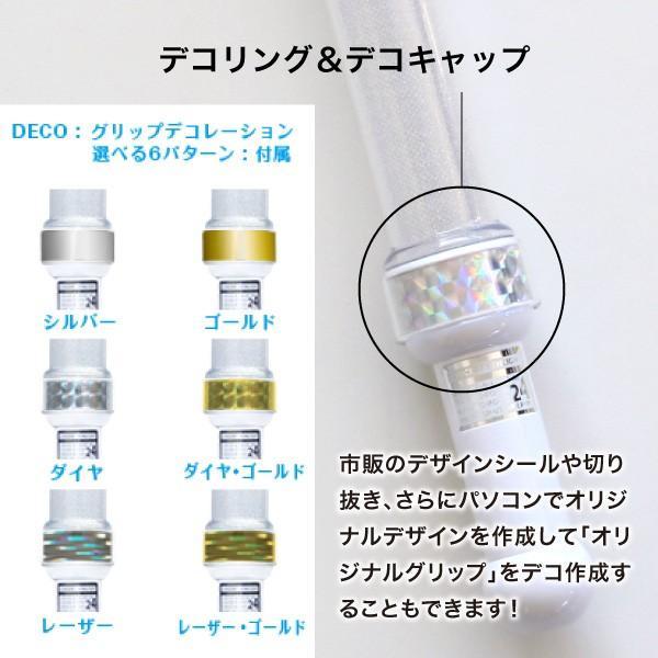 ペンライト LED コンサート 24色 カラーチェンジ Sサイズ Mサイズ ボタン電池式 MIX PENLa (ミックス ペンラ) PRO  デコリング&デコキャップ ターンオン|pre-mart|07