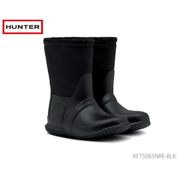 HUNTER ハンター オリジナル キッズ シェルパ ブーツ ブラック 国内正規品 KFT5065NRE BLK