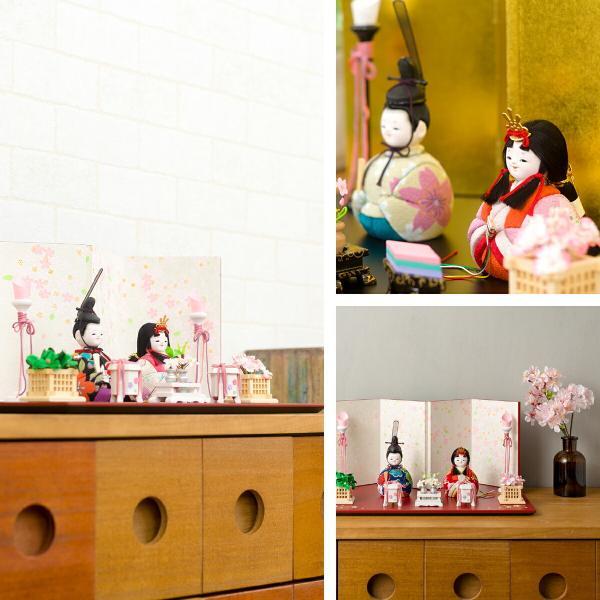 雛人形 コンパクト おしゃれ 木目込み雛人形 ぷりふあ 静岡和屏風私用 高岡漆器 【2020年モデル】 雛人形 おひなさま 特選|prefer|06