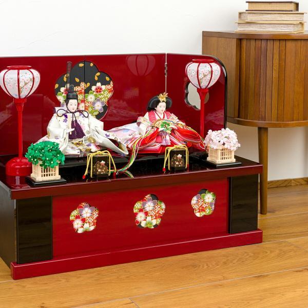 雛人形 収納飾り おしゃれ コンパクト ひな人形 春蕾|prefer|04