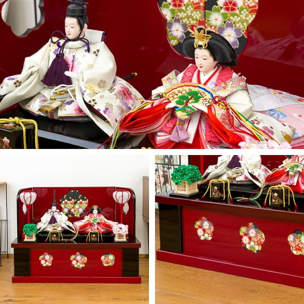 雛人形 収納飾り おしゃれ コンパクト ひな人形 春蕾|prefer|05