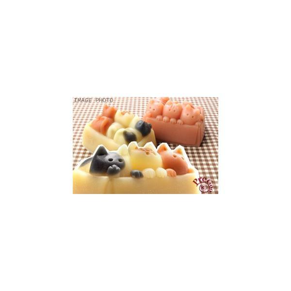 デザイン シリコンモールド / 猫 ぎゅうぎゅう箱ネコ    ( ねこ ネコ ) pregoo 04
