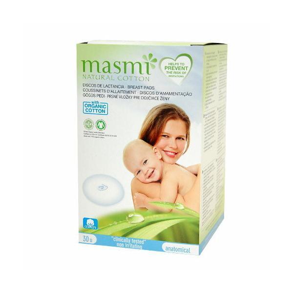Masmi オーガニックコットン 母乳パッド 30枚(直径10cm) 【サマーセール】