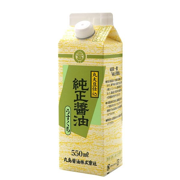 丸島 純正醤油 淡口紙パック 550ml