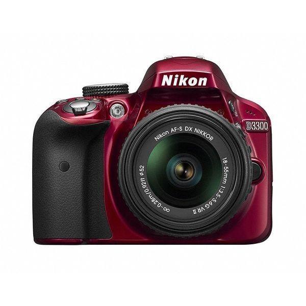 1年保証 美品 Nikon D3300 18-55mm VR II レンズキット レッド