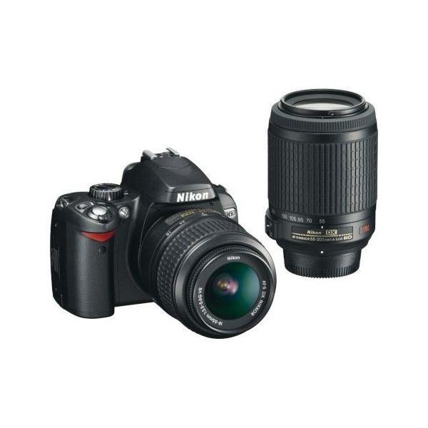中古 1年保証 美品 Nikon D60 ダブルズームキット 18-55 55-200 VR