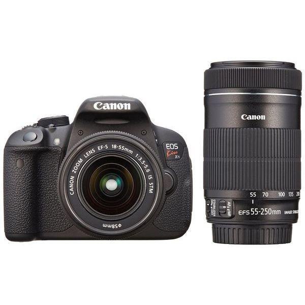 1年保証 美品 Canon EOS Kiss X7i 18-55mm STM / 55-250mm STM