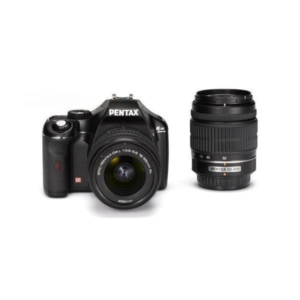 中古 1年保証 美品 PENTAX K-m ダブルズームキット 18-55mm / 50-200mm