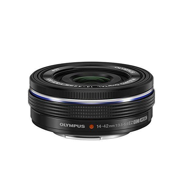中古 1年保証 美品 OLYMPUS M.ZUIKO DIGITAL ED 14-42mm F3.5-5.6 EZ ブラック|premierecamera