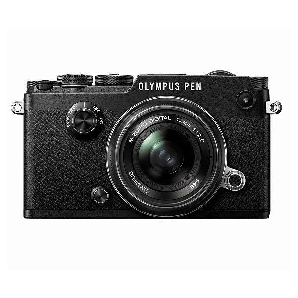 中古 1年保証 美品 OLYMPUS PEN-F 12mm F2.0 レンズキット ブラック|premierecamera