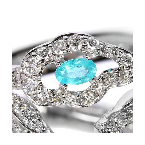 ブラジル産パライバトルマリンダイヤモンドホワイトゴールドリング(指輪)【宝石鑑別書付】|premium-outlet|02