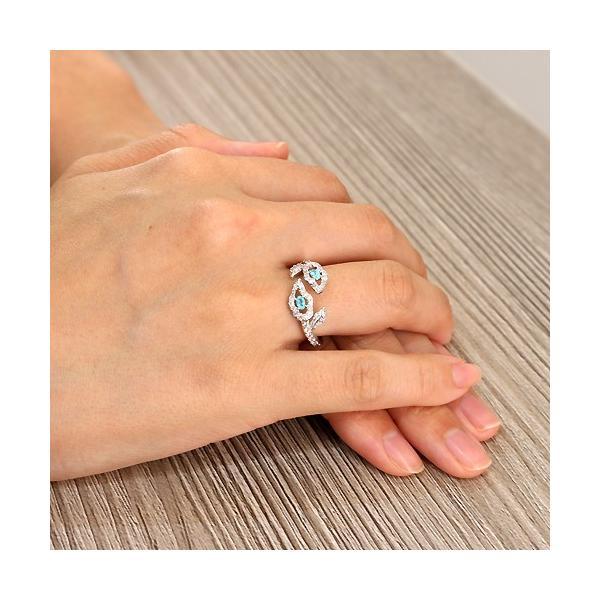 ブラジル産パライバトルマリンダイヤモンドホワイトゴールドリング(指輪)【宝石鑑別書付】|premium-outlet|04