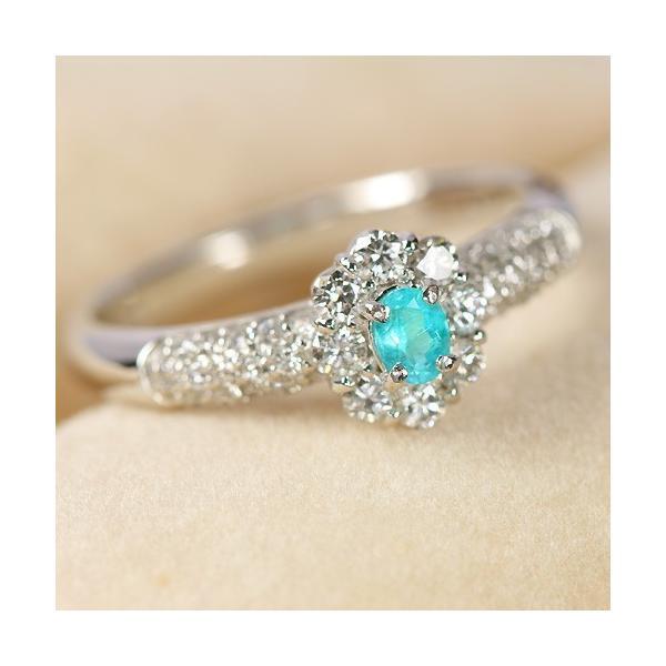 ブラジル産パライバトルマリン ダイヤモンド0.4ct プラチナ リング(指輪)【品質保証書/宝石鑑別書付】|premium-outlet