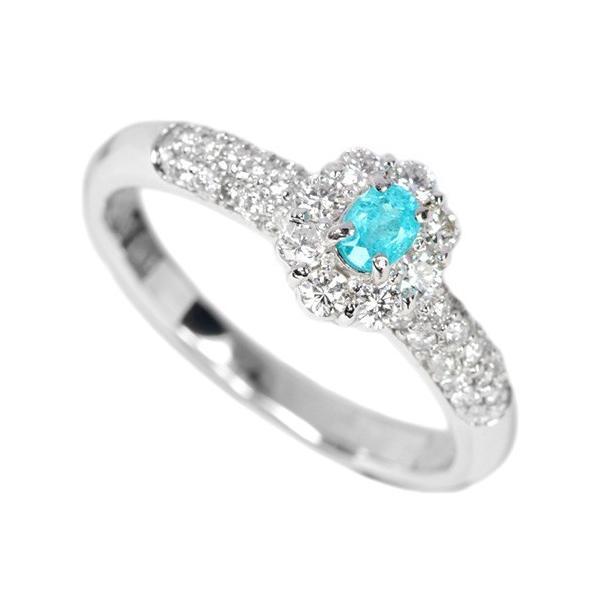 ブラジル産パライバトルマリン ダイヤモンド0.4ct プラチナ リング(指輪)【品質保証書/宝石鑑別書付】|premium-outlet|02
