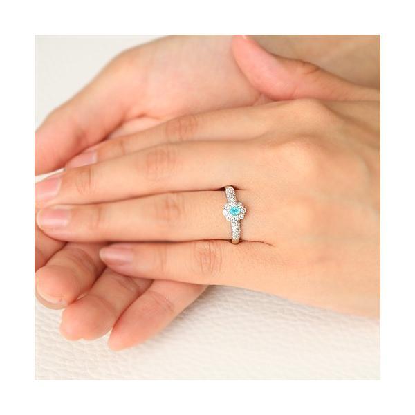 ブラジル産パライバトルマリン ダイヤモンド0.4ct プラチナ リング(指輪)【品質保証書/宝石鑑別書付】|premium-outlet|03