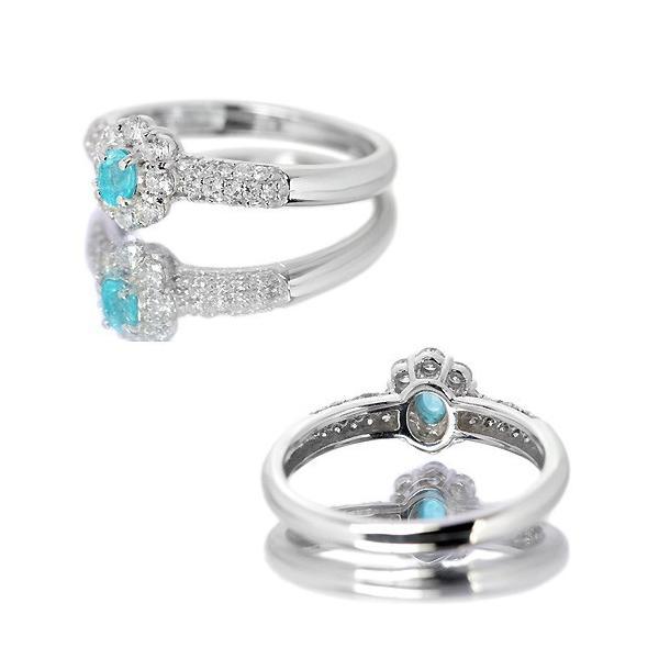 ブラジル産パライバトルマリン ダイヤモンド0.4ct プラチナ リング(指輪)【品質保証書/宝石鑑別書付】|premium-outlet|04
