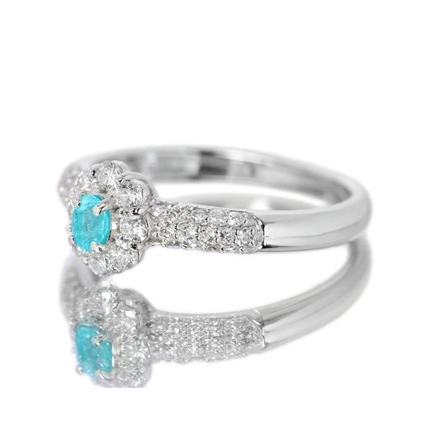 ブラジル産パライバトルマリン ダイヤモンド0.4ct プラチナ リング(指輪)【品質保証書/宝石鑑別書付】|premium-outlet|06