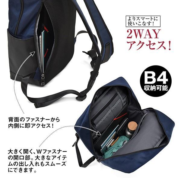 TRICKSTERトリックスターフラップリュックサック「TIGER(タイガー)」(Brave Collection メンズバッグ カバン 鞄 B4サイズ ビジネス 撥水 通勤 通学) premium-pony 03