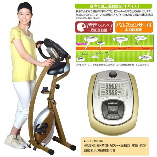 送料込!音声ナビゲーション付きバイク「パルトレピュアバイク」(エクササイズバイク ダイエット トレーニング 自転車漕ぎ ペダルこぎ 運動器具) premium-pony 04