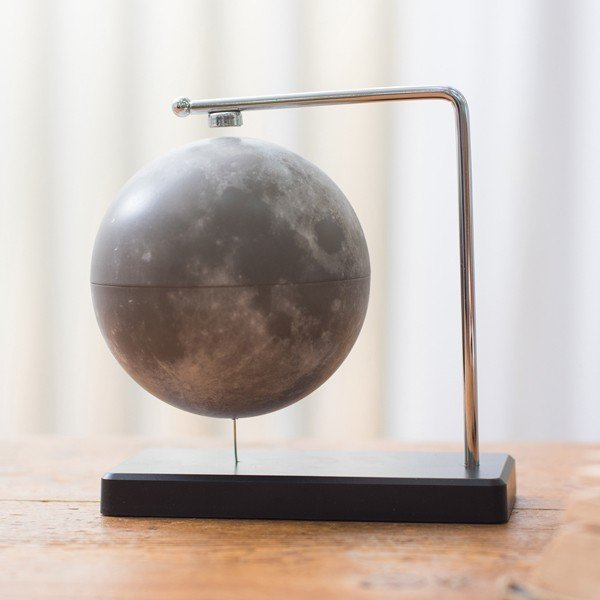 フローティング月球儀 (浮かぶ月球儀 磁力 インテリアオブジェ 回転 Fun Science ファンサイエンス 球儀シリーズ 天体 宇宙 月グッズ)|premium-pony|02