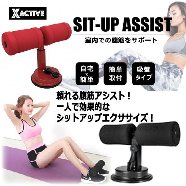 腹筋エクササイズ「シットアップアシスト」(ながらトレーニング 体幹トレーニング 腕立て伏せ 設置 持ち運び 足 効果的 フローリング)|premium-pony