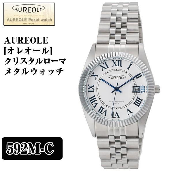 AUREOLE「オレオール」クリスタルローマメタルウォッチ(富士山時計,JAPAN特製モデル,メンズ,腕時計,スイス時計,日本製ムーブメント,100m防水)|premium-pony|05
