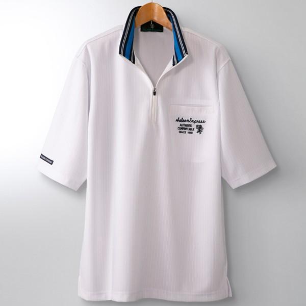 SALOON EXPRESS(サルーンエクスプレス)ストライプ柄ハーフジップ5分袖シャツ3色組(メンズ 男性用 紳士用 大人カジュアル)|premium-pony|05