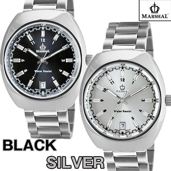 マーシャル腕時計MRZ015(メンズウォッチ、MARSHAL,5気圧防水,ビジネス,日付表示付き)|premium-pony|02