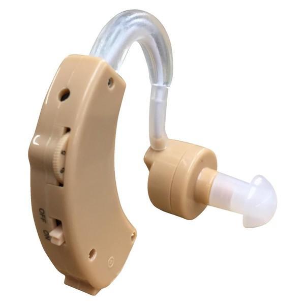 イヤーフック型集音器 (よく聞こえる 小さい 軽量 音量調整 左右両耳対応 耳かけタイプ ボタン電池式 聞こえのサポート 敬老の日)|premium-pony|02