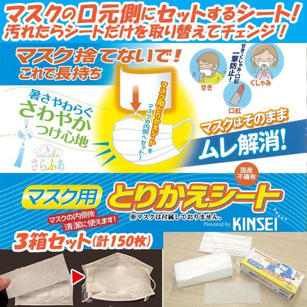 マスク捨てないで!これで長持ち!「さらふあマスク用とりかえシート」2箱セット(計100枚) (4月発送 取り替えシート 日本製 不織布シート ウイルス 花粉)|premium-pony