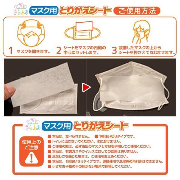マスク捨てないで!これで長持ち!「さらふあマスク用とりかえシート」2箱セット(計100枚) (4月発送 取り替えシート 日本製 不織布シート ウイルス 花粉)|premium-pony|04