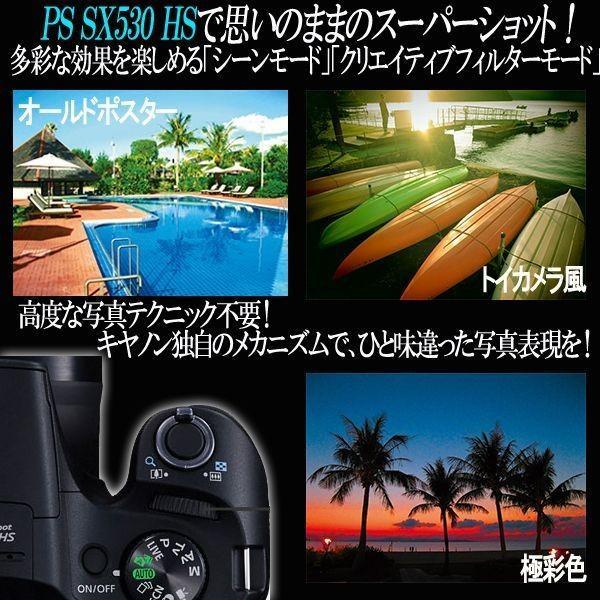 キヤノンPowerShot SX530 HS[豪華4点セット]( 画素 撮影 モニター 手ブレ 光学 Wi-Fi NFC カメラ ズーム キャノン )|premium-pony|05