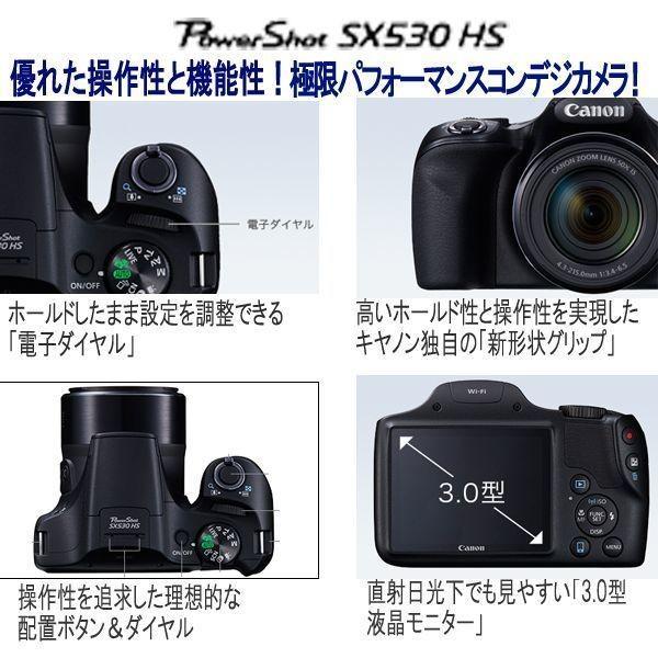キヤノンPowerShot SX530 HS[豪華4点セット]( 画素 撮影 モニター 手ブレ 光学 Wi-Fi NFC カメラ ズーム キャノン )|premium-pony|09