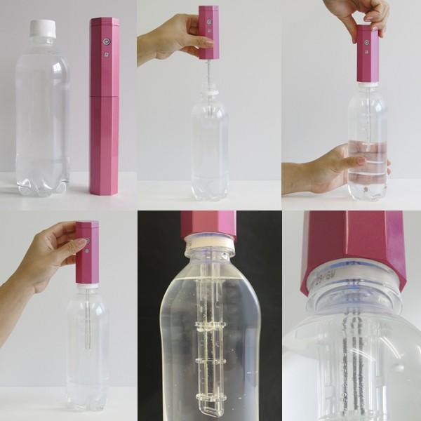 ポータブル水素水生成器「アクアスティック」 (携帯,500mlペットボトル用,水道水,アンチエイジング,美容,ダイエット,活性水素)|premium-pony|03