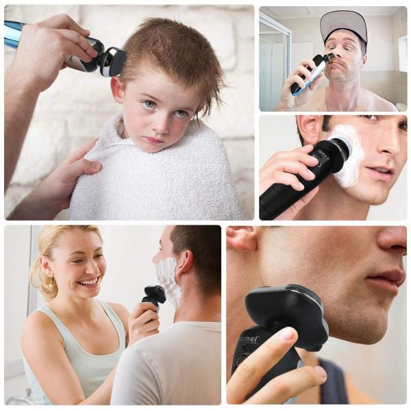 Melophy(メロフィー) メンズシェーバー 髭剃り 電動シェーバー 4in1 トリマー 洗顔ブラシ 鼻毛・耳毛カッター USB充電可 乾