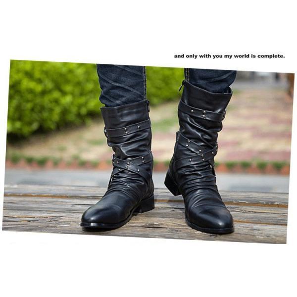 ワークブーツ マーティンブーツ メンズ シューズ ブーツ カジュアルシューズ ショートブーツ アウター ヴィンテージ シークレットシューズ|preppy|15