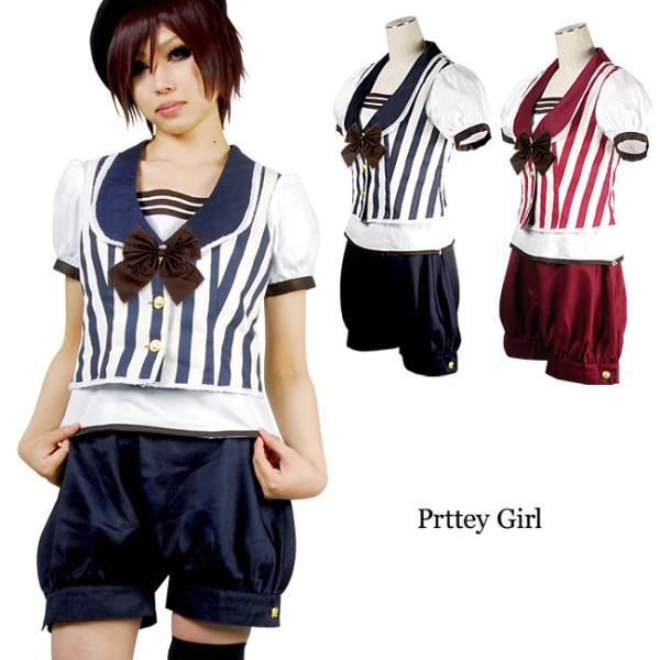 在庫限り BERUNIKA パリジャン風 ストライプ ドール セット 大きいサイズ ロリィタ 王子 コスプレ 衣装|prettygirl
